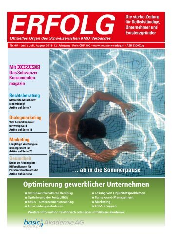 Erfolg_Ausgabe Nr. 6-8 - Juni - August 2018