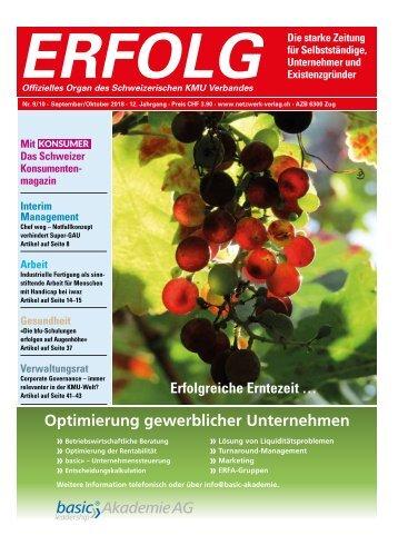 Erfolg_Ausgabe Nr. 9-10 - Sep/Okt 2018