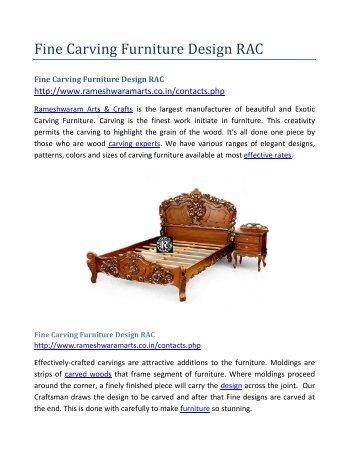Fine Carving Furniture Design RAC