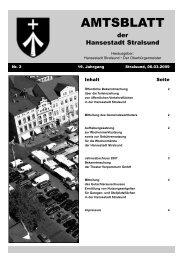 Amtsblatt Nr. 2 - Hansestadt Stralsund