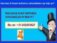 Hoe kan ik Avast Antivirus uitschakelen op mijn pc