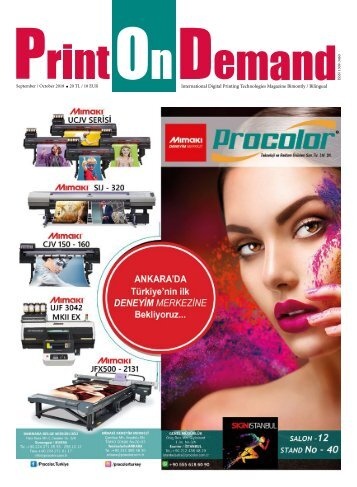 PRINT ON DEMAND September October 2018