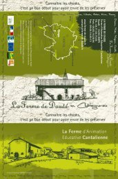 Notre plaquette - Ferme Pédagogique de Daudé dans le Cantal en ...