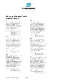 Ausschreibungs-Texte Material: PP-El-s - Schmidhammer Kunststoffe
