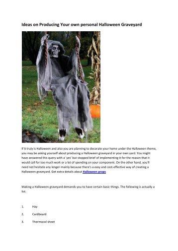 6 Halloween props