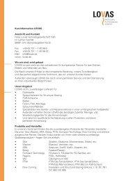 Kurzinformation LOVAS Anschrift und Kontakt Peter Lovas ...
