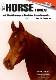 A Complimentary Newsletter F A Complimentary ... - Horse Times