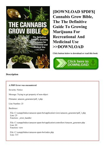 [DOWNLOAD $PDF$] Cannabis Grow Bible  The The Definitive Guide To Growing Marijuana For Recreational And Medicinal Use DOWNLOAD