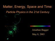 Matter, Energy, Space and Time: Particle Physics in - Interactions.org