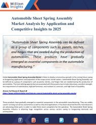 Automobile Sheet Spring Assembly Market Outlook 2025: Top Companies, Trends and Growth Factors Details for Business Development