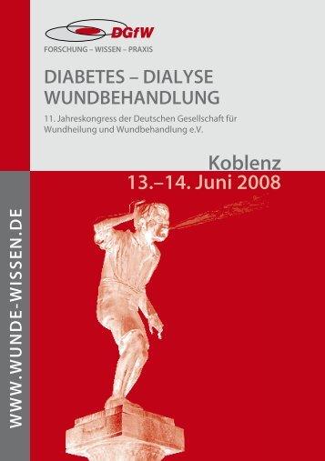 Freitag, . Juni 008 - Deutsche Gesellschaft für Wundheilung und ...