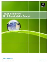 RREEF Real Estate 2011 Sustainability Report