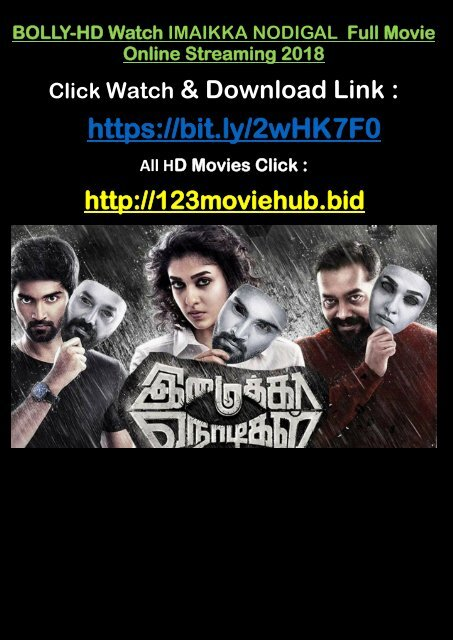 IMAIKKAA NODIGAL 2018 Watch FREE Full Movie Online STREAMING