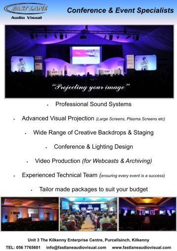Conference & Event Specialists - Fast Lane Audio Visual