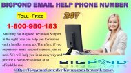 Bigpond Email Help Phone Number |Regain It In A Minute Via 1-800-980-183