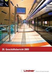 Geschäftsbericht Lindner Gruppe 2009 - Lindner Group