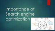 Importance of Search engine optimization
