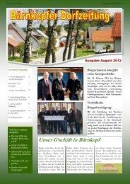 Dorfzeitung August 2012 - Bärnkopf