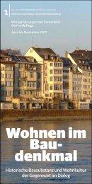 Wohnen im Baudenkmal - Denkmalpflege - Basel-Stadt