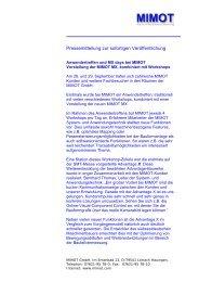 Pressemitteilung (pdf) - Mimot.com
