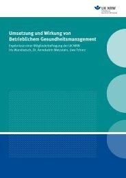 Umsetzung und Wirkung von Betrieblichem ... - Unfallkasse NRW