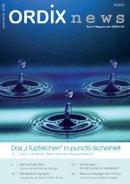 """Das """"i-Tüpfelchen"""" in puncto Sicherheit - ORDIX AG in"""