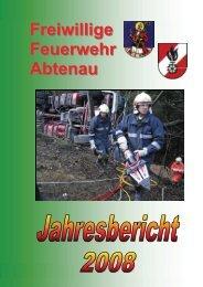 Freiwillige Feuerwehr Abtenau Jahresbericht 2008