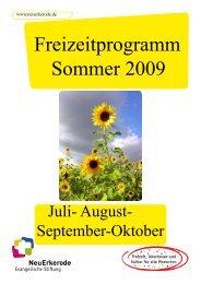 Freizeitprogramm Sommer 2009 - NeuErkerode