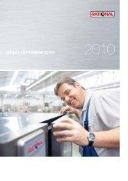 RATIONAL   Geschäftsbericht 2010 - Investor Relations Center
