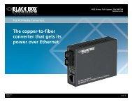 Product Data Sheets (pdf)...PoE PD Media Converters - Black Box