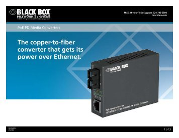 Product Data Sheets (pdf)...PoE PD Media Converters - Black Box