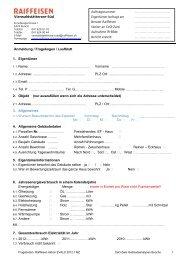 Fragebogen zum ausfüllen - Raiffeisen
