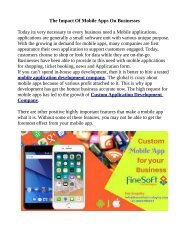 The Impact Of Mobile Apps On Businesses