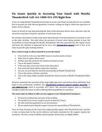 HOW TO ACCESS GMAIL WITH MOZILLA THUNDERBIRD-converted