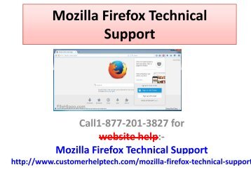 Mozilla Firefox Technical Support | Customer Service Number
