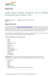 Global Smart Wearable Healthcare Devices Market Professional Survey Report 2018