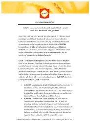 PRESSEINFORMATION AURORA Sonnenstern-Grieß: Bewährte ...