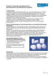 Einsatz von Trockeneis oder Stickstoff in der pharmazeutischen und ...