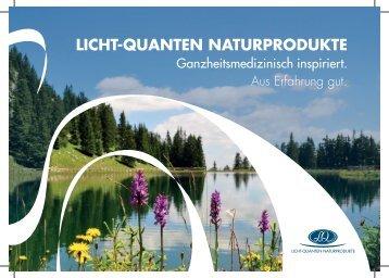 LichtQuanten Produktfolder 2017