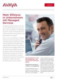 Mehr Effizienz in Unternehmen mit Managed Services - Avaya