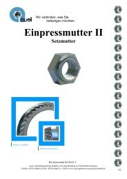 Einpressmutter II Setzmutter - auel Verbindungstechnik