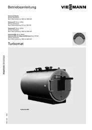 Betriebsanleitung Turbomat - Viessmann
