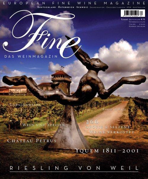 FINE Das Weinmagazin, 1. Ausgabe - 01/2008