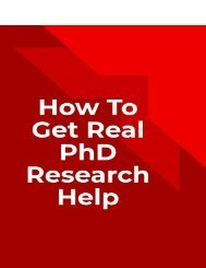 How To Get Real PhD Research Help
