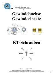 Gewinde /- buchse - auel Verbindungstechnik