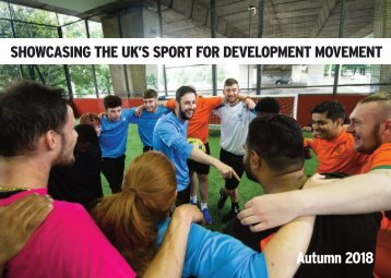 Showcasing the Sport for Development sector - Autumn 2018