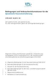 Bedingungen und Verbraucherinformationen für die dynamische ...