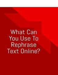 What Can You Use To Rephrase Text Online