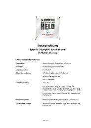 Ausschreibung Special Olympics Sachsenbowl