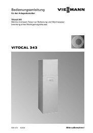 VITOCAL 343 Bedienungsanleitung - Viessmann